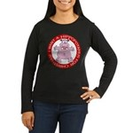 Hippo for Christmas Women's Long Sleeve Dark T-Shi