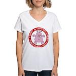 Hippo for Christmas Women's V-Neck T-Shirt