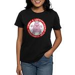 Hippo for Christmas Women's Dark T-Shirt