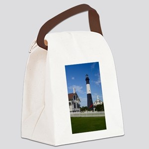 Tybee Island Lighthouse and Fence Canvas Lunch Bag