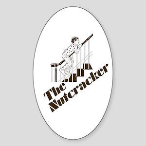 The Real Nutcracker Oval Sticker