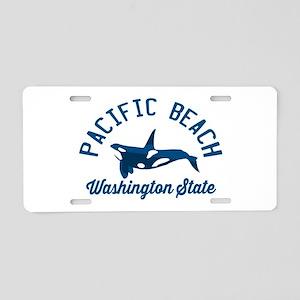 Pacific Beach - Washington. Aluminum License Plate