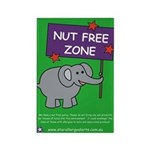 Nut Free Zone Rectangle Magnet (100 pack)