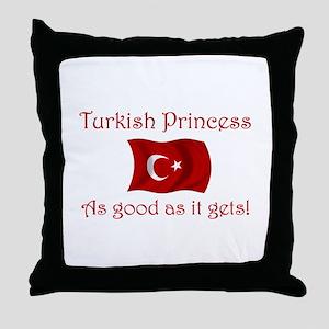 Turkish Princess Throw Pillow