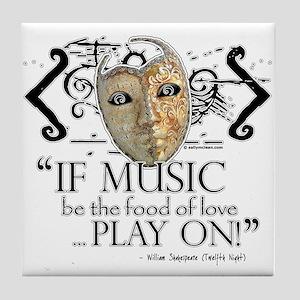 Twelfth Night Tile Coaster