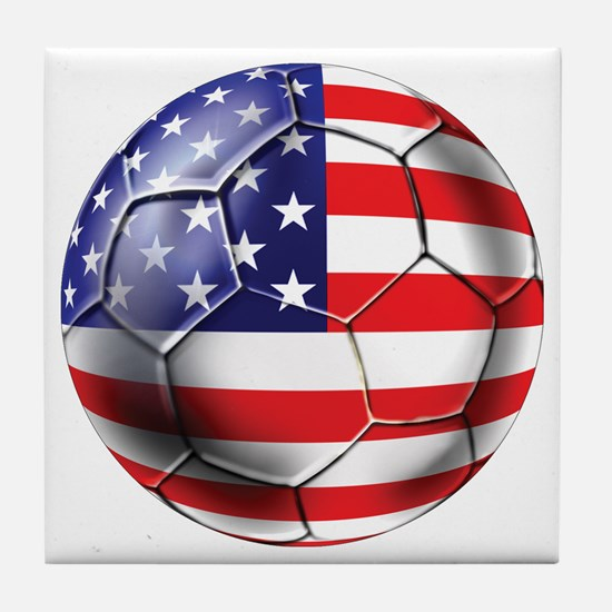 U.S. Soccer Ball Tile Coaster