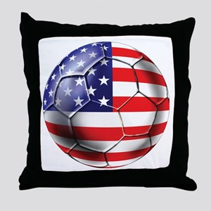 U.S. Soccer Ball Throw Pillow
