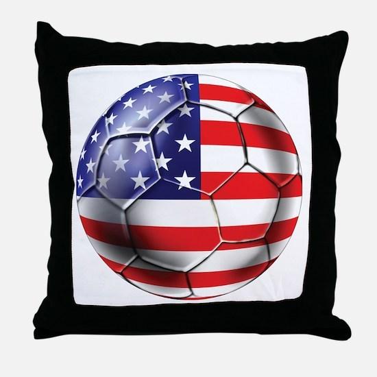 U.S. Soccer Ball Throw Pillow
