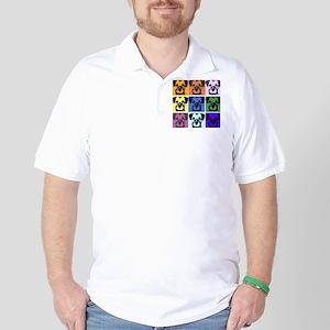 Border Terrier Pop Art Golf Shirt