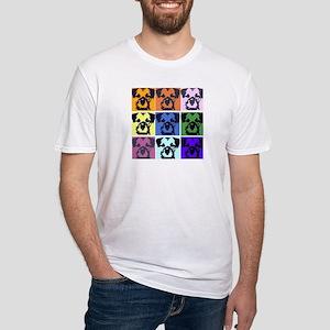 Border Terrier Pop Art Fitted T-Shirt
