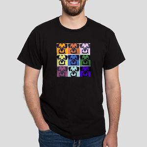 Border Terrier Pop Art Dark T-Shirt