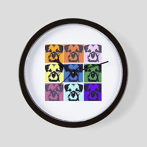 Border Terrier Pop Art Wall Clock