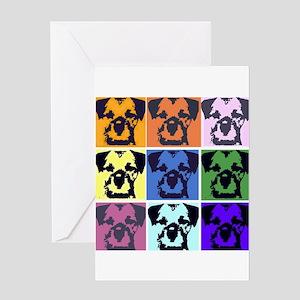 Border Terrier Pop Art Greeting Card