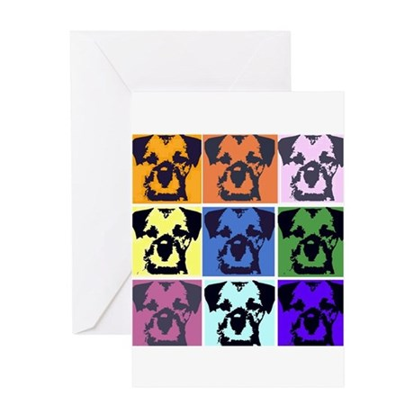 Border Terrier Pop Art Greeting Card