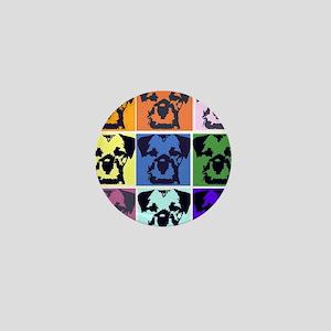 Border Terrier Pop Art Mini Button
