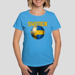 Sweden Football Women's Dark T-Shirt