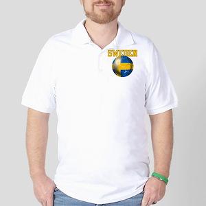 Sweden Football Golf Shirt