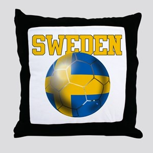 Sweden Football Throw Pillow