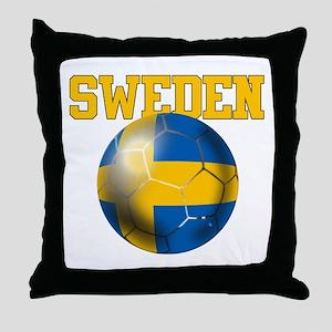 Sweden Football Throw Pillow