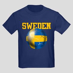 Sweden Football Kids Dark T-Shirt