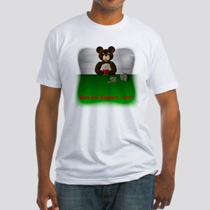 Poker Bear- Darn Prefloppers Fitted T-Shirt