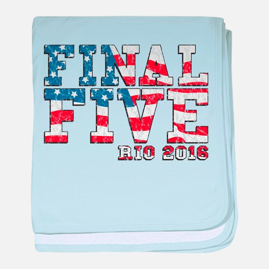 Final Five Rio 2016 baby blanket