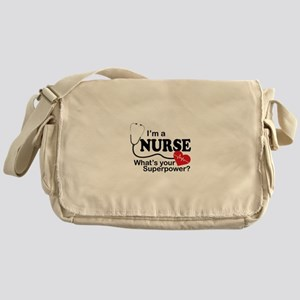 I'm a Nurse What's your Superpower? Messenger Bag