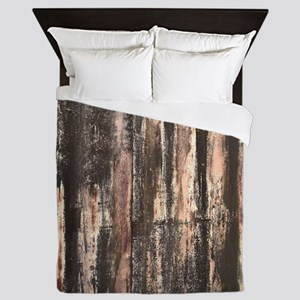 Rusted Corrugated Metal Queen Duvet