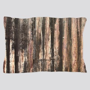 Rusted Corrugated Metal Pillow Case