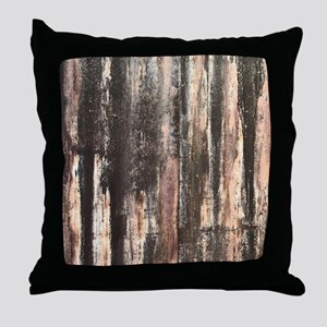 Rusted Corrugated Metal Throw Pillow