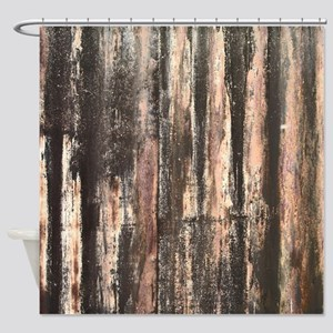 Rusted Corrugated Metal Shower Curtain