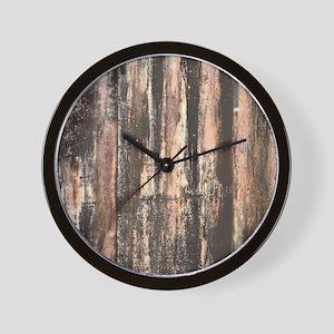 Rusted Corrugated Metal Wall Clock