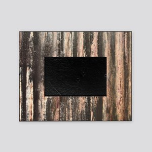 Rusted Corrugated Metal Picture Frame
