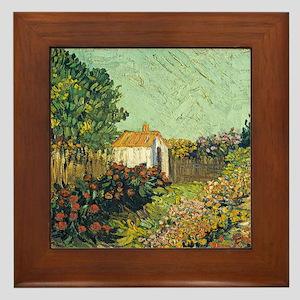 Van Goghs Landscape Framed Tile