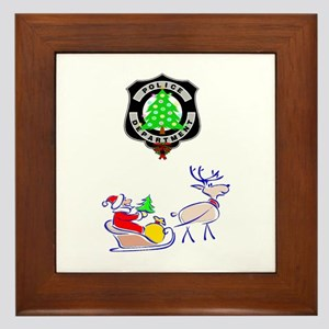 Police Christmas Framed Tile
