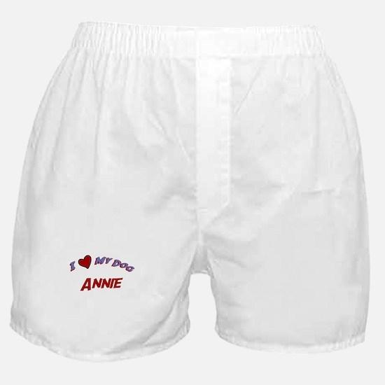 I Love My Dog Annie Boxer Shorts