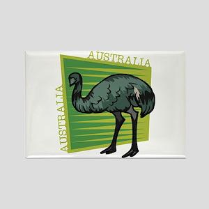 Australia Emu Rectangle Magnet