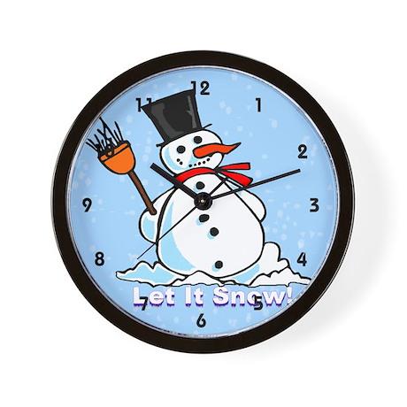 A frosty Snowman Wall Clock