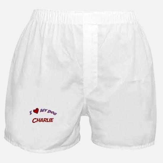 I Love My Dog Charlie Boxer Shorts
