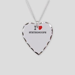 I Love STETHOSCOPE Necklace Heart Charm