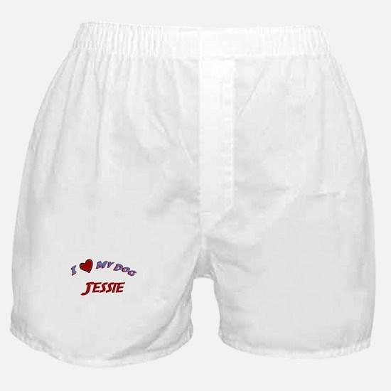 I Love My Dog Jessie Boxer Shorts