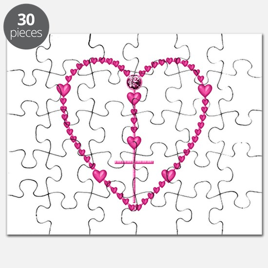 Pink Rosary with Heart-Shaped Beads Puzzle