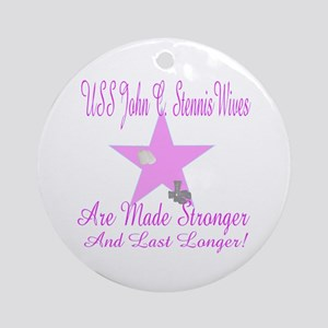 uss john c stennis wives Ornament (Round)