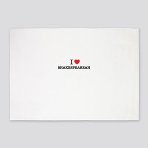 I Love SHAKESPEAREAN 5'x7'Area Rug