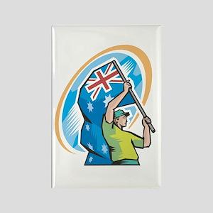Aussie Flag Bearer Rectangle Magnet