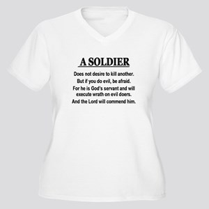 A Soldier does not desire to Women's Plus Size V-N