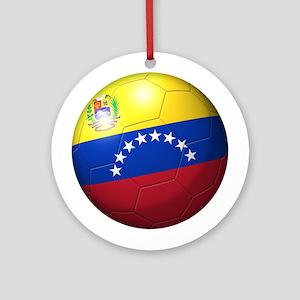 Venezuela Flag Soccer Ball Ornament (Round)
