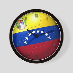 Venezuela Flag Soccer Ball Wall Clock