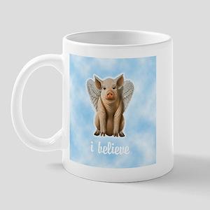 I Believe Flying Pig Mug