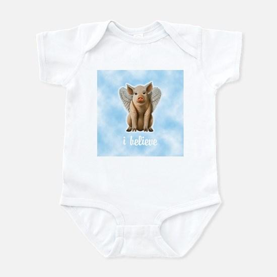 I Believe Flying Pig Infant Bodysuit